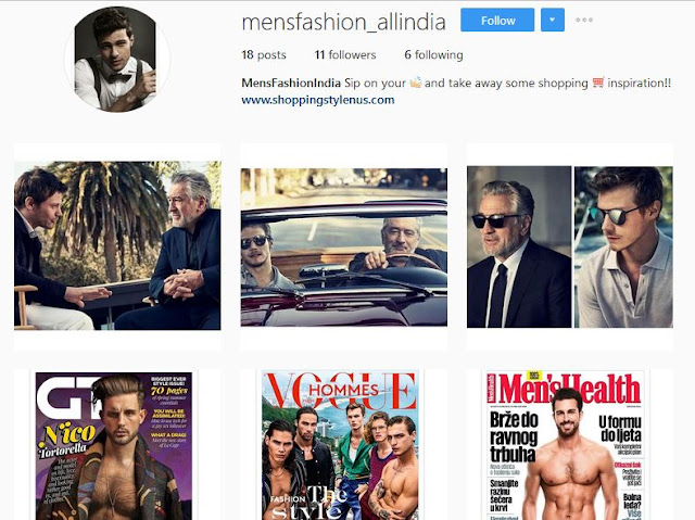 Mens fashion - All India : An Instragram Account for Men