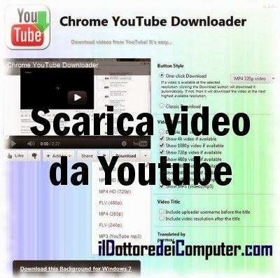 Scaricare video da youtube google chrome