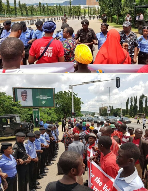 Police Block Ezekwesili, BBOG Protesters From Seeing Buhari