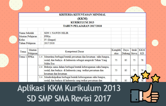 Kkm Bahasa Indonesia Kelas 8 Kurikulum 2013 Revisi 2017