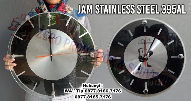 Jam Dinding Exclusive dengan plat metal / stainless, Jam Dinding Modern Minimalis, Stainless Steel Jam Dinding Promosi, Promotional Stainless Steel Jam Dinding, Jam dinding diameter 40cm, custom logo jam dinding stainless steel, jam stainless (ekslusif)