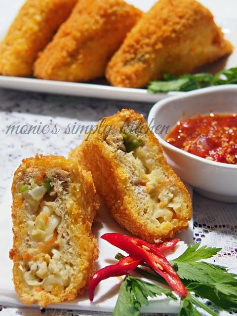 Roti Tawar Isi : tawar, Tawar, Goreng, Fusilli, Monic's, Simply, Kitchen