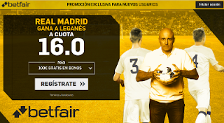 betfair supercuota Real Madrid gana a Leganes 18 enero