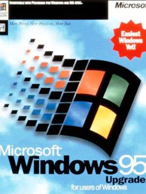 embalagem do Windows 95