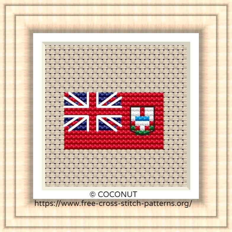 NATIONAL FLAG OF BERMUDA CROSS STITCH CHART