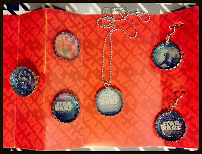 Star Wars bottle cap resin jewelry