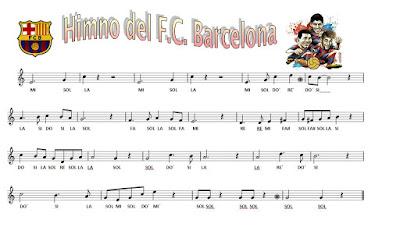 Resultado de imagen de himno del barcelona con la flauta
