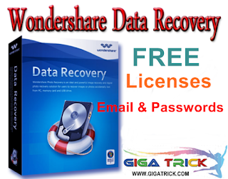 Wondershare Data Recovery Licensed Email and Registration Code 2019 (Updated)