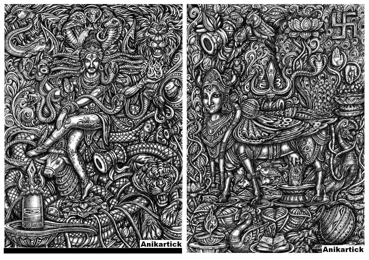 Vinayagar sketches god art god illustrations indian gods god images god photos god pen drawings god paintings artist anikartickchennai