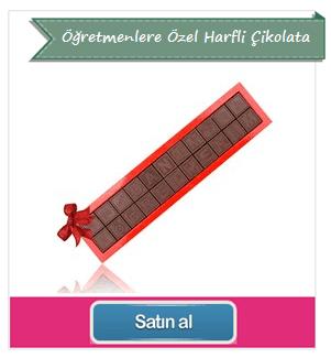 Öğretmenler Gününe Özel Harfli Çikolata