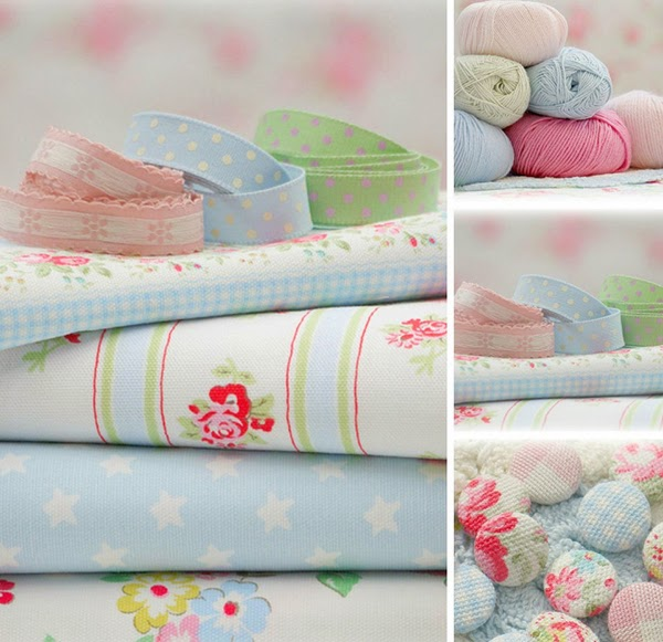 Tanya Wheelan fabric and cath kidston fabric covered buttons