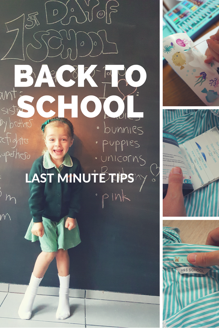 Last minute back to school tips! Six of my best tips and reminders for the last week before school starts - from shopping to prepping the kids!