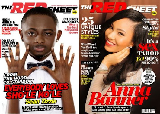 Sean Tizzle and Anna Banner cover August issue of Redsheet mag