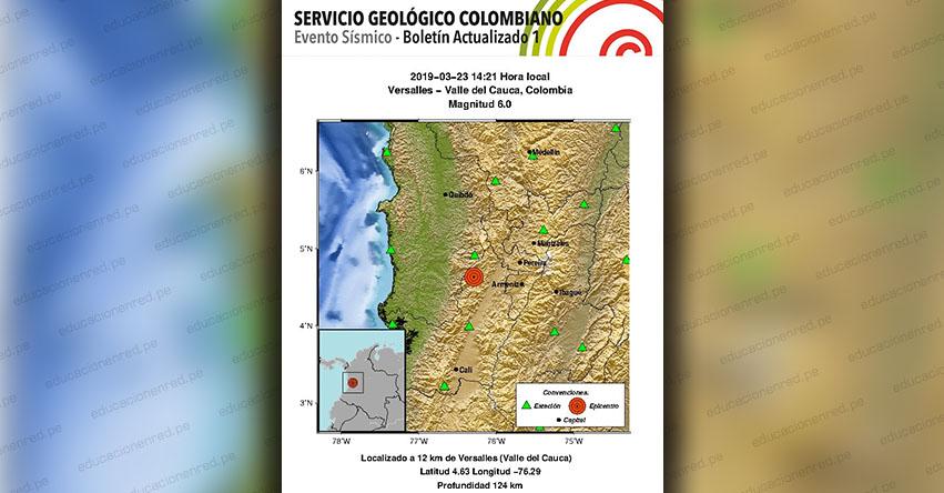 Terremoto en Colombia de Magnitud 6.0 (Hoy Sábado 23 Marzo 2019) Temblor - Sismo - Epicentro - Versalles - Valle del Cauca - En Vivo Twitter - Facebook - www.sgc.gov.co