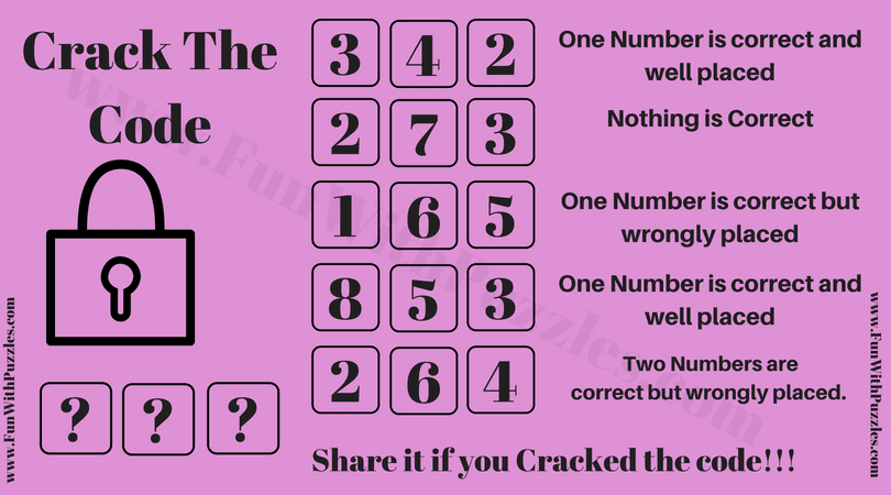 Are you really a Code Cracker? Find out-Fun With Puzzles