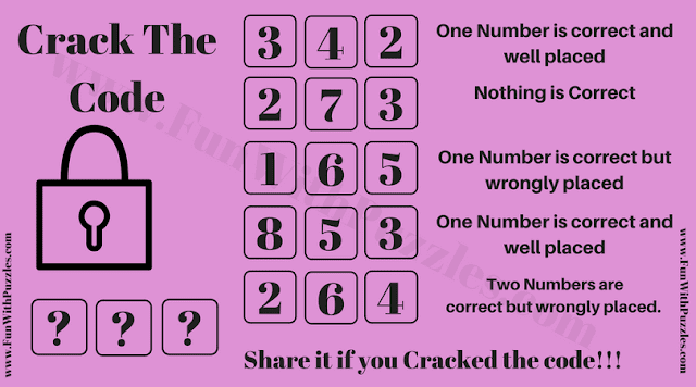 It is logical code cracking brain teaser in which you have to crack the code and open the lock.