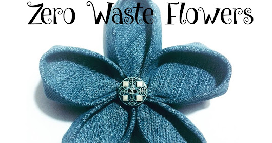 Zero Waste Upcycled DIY Denim or Fabric Flower Tutorial