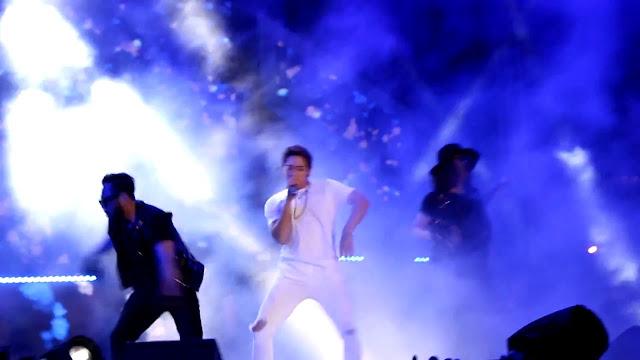 La superstar sud-coréenne Rain en concert