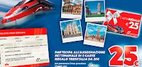 Logo Gioca lo scontrino e vinci 140 Carte Regalo Trenitalia da 25€