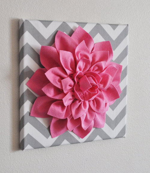 Felt Flowers Wall Decor : Help kori felt flower wall art tutorial