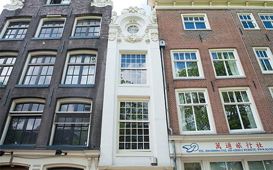 The narrowest houses in Amsterdam