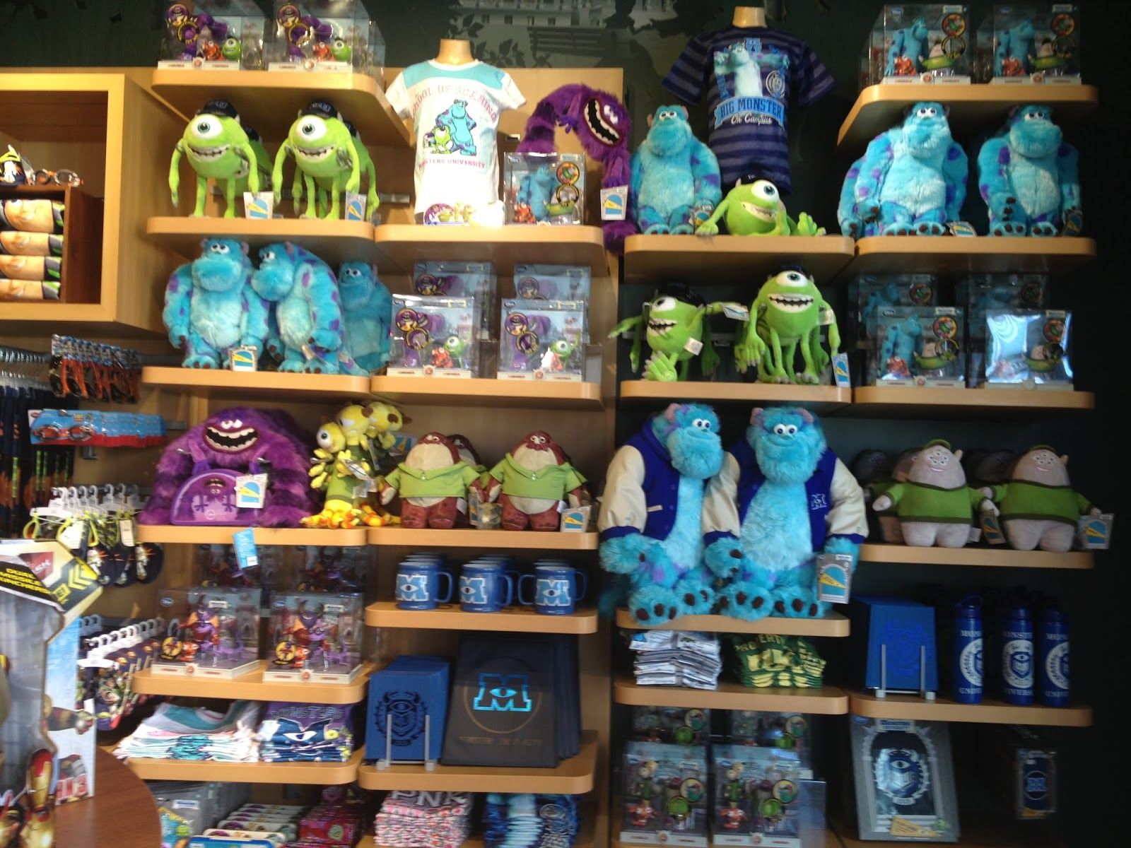 monsters university disney store merchandise release
