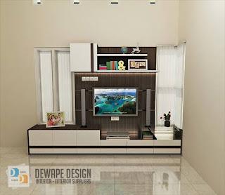 rak tv desain minimalis di malang