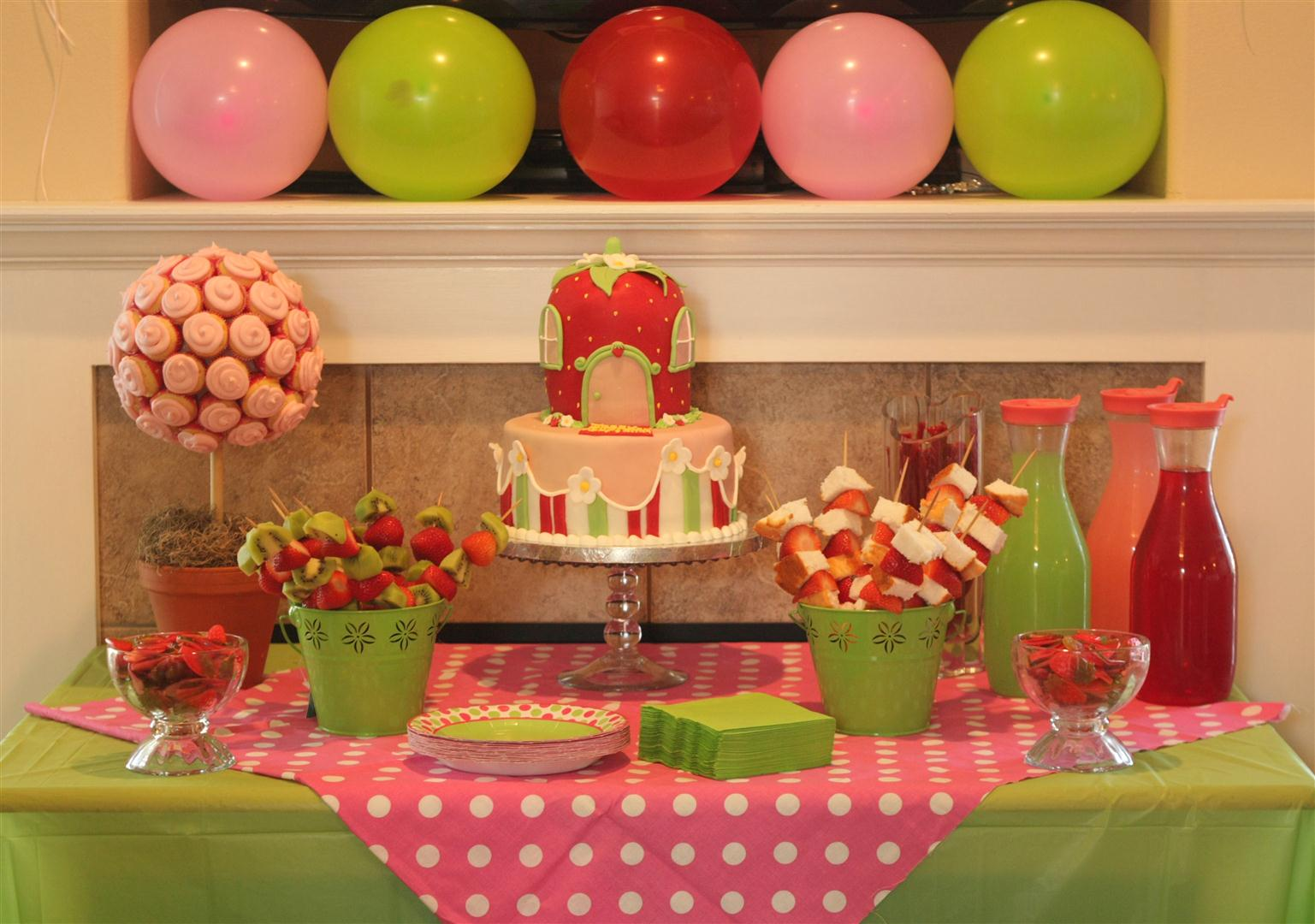 Patty Cakes Bakery Strawberry Shortcake Birthday Party