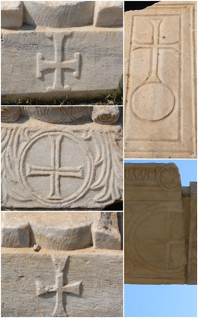 Different Cross designs can be found at St Philip tomb at Hierapolis in Pamukkale, Turkey