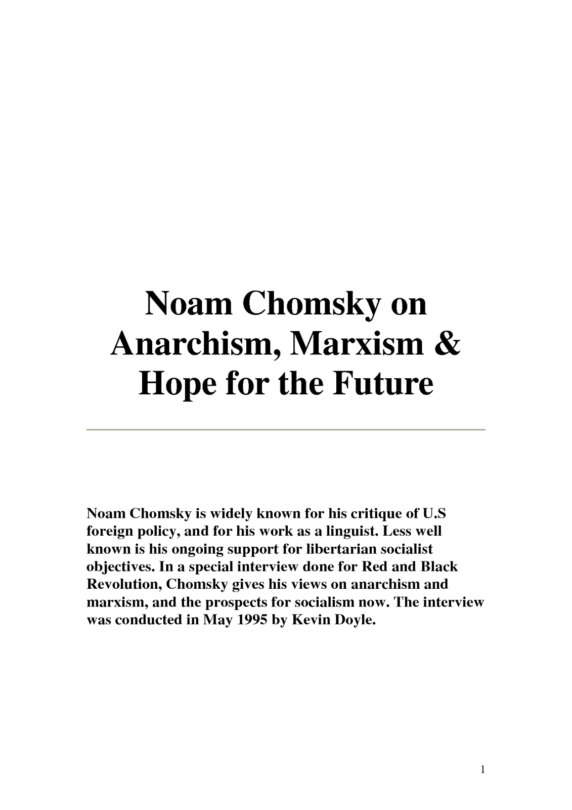Friends Of Liberty Archives Noam Chomsky Describes Anarchism