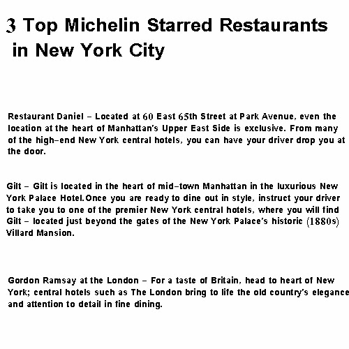 michelin star restaurants new york