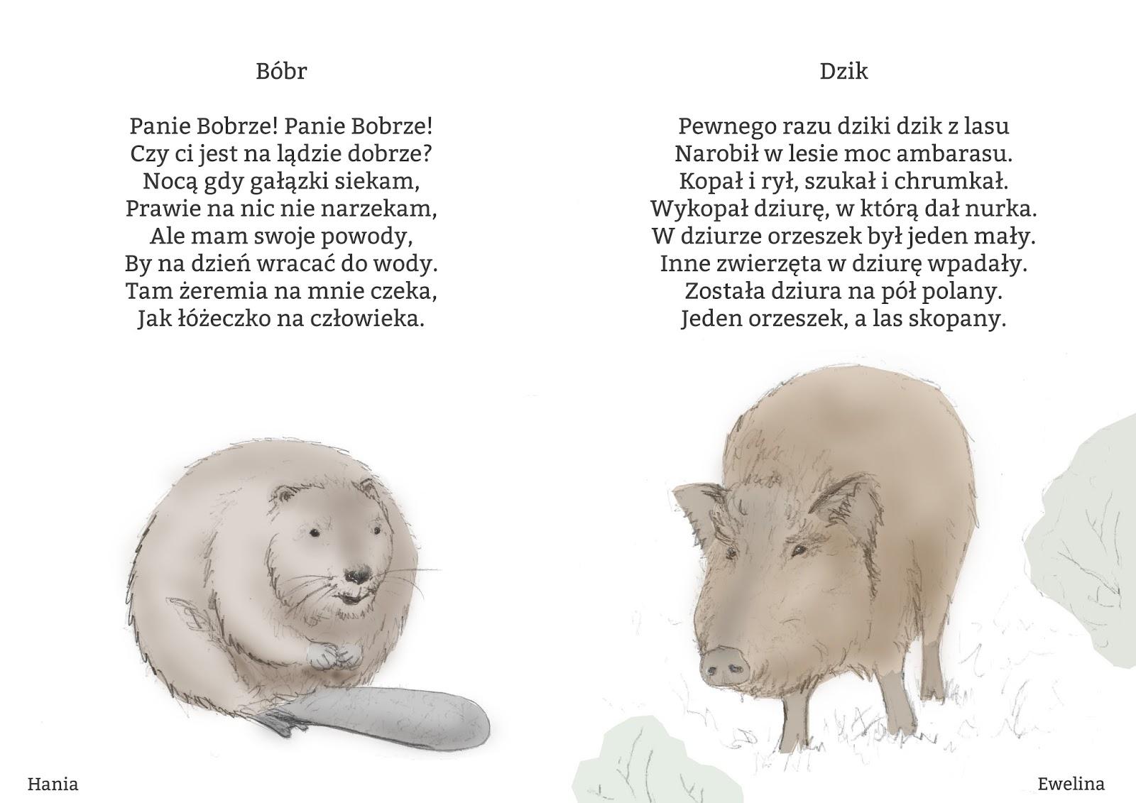 Dobra Przystań Rodzinne Diy Wierszyki O Zwierzętach