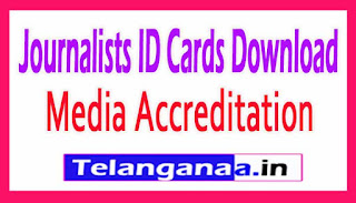 Telangana State Media Accreditation Rules 2017 Journalists ID Cards