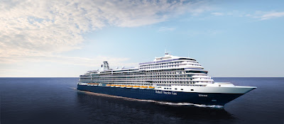 Artists Rendering of Holland America's 4th Pinnacle Ship Ryndam being built at Italy's Fincantieri