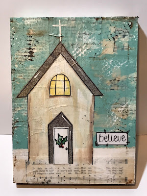 rustic painted church
