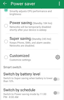 Power Saver mode of Asus ZenFone 3s Max phone