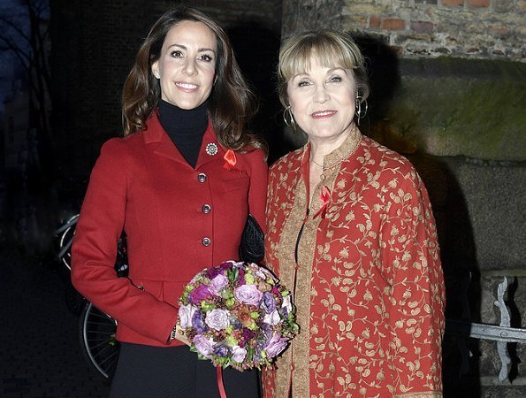 Princess Marie attended the Annual Christmas Concert held by Danish Aids Foundation at Trinitatis Church