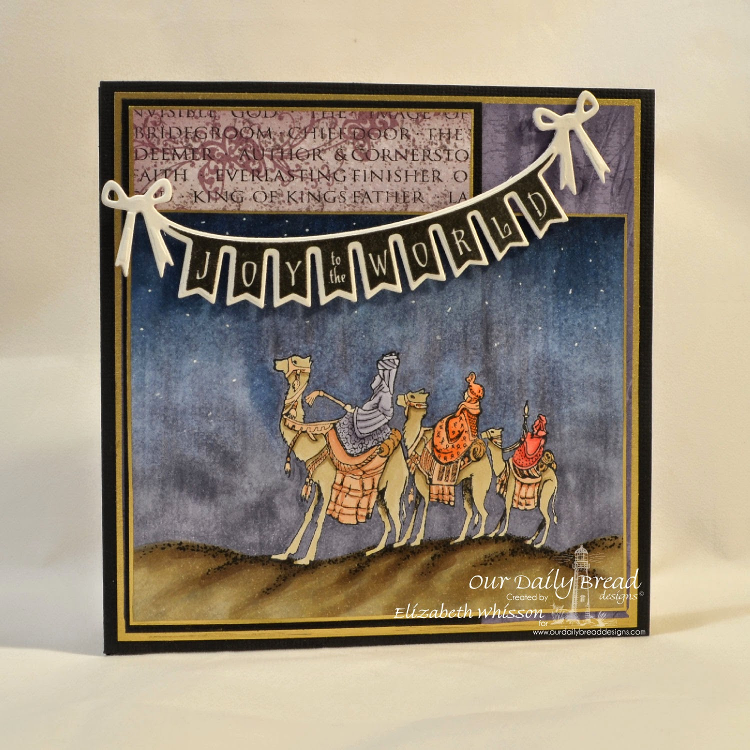 Our Daily Bread Designs, We Three Kings, Christmas Pennant Swag, ODBD Pennant Swag Die, ODBD Christian Faith Paper Collection, Designed by Elizabeth Whisson