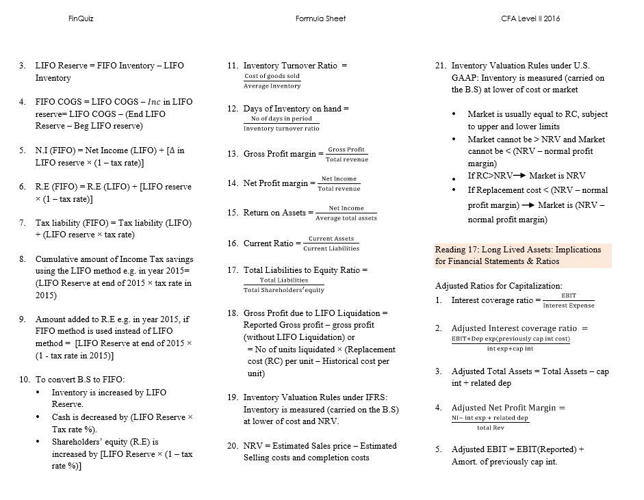 Cfa level 1 2015 secret sauce pdf