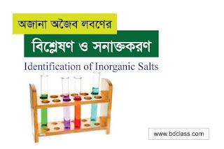 Indentification of Inorganic Salts
