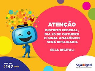 Brasília e região terá somente tv digital a partir de outubro