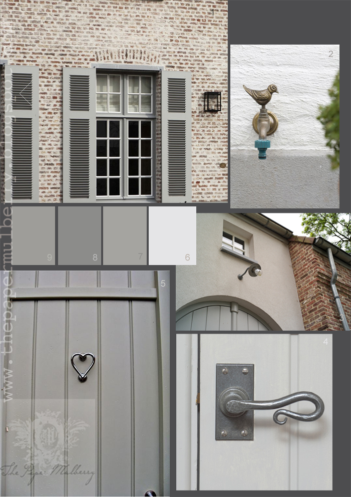Detail Of Painted Wall By Belgian Photographer Caroline Monbailliu 3 Contemporary Architecture Archeos Arched Wooden Garage Doors 4