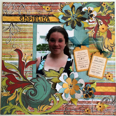 Scrapbook page featuring Whistlin' Dixie Papers from Quick Quotes designed by Alicia O'Bryant