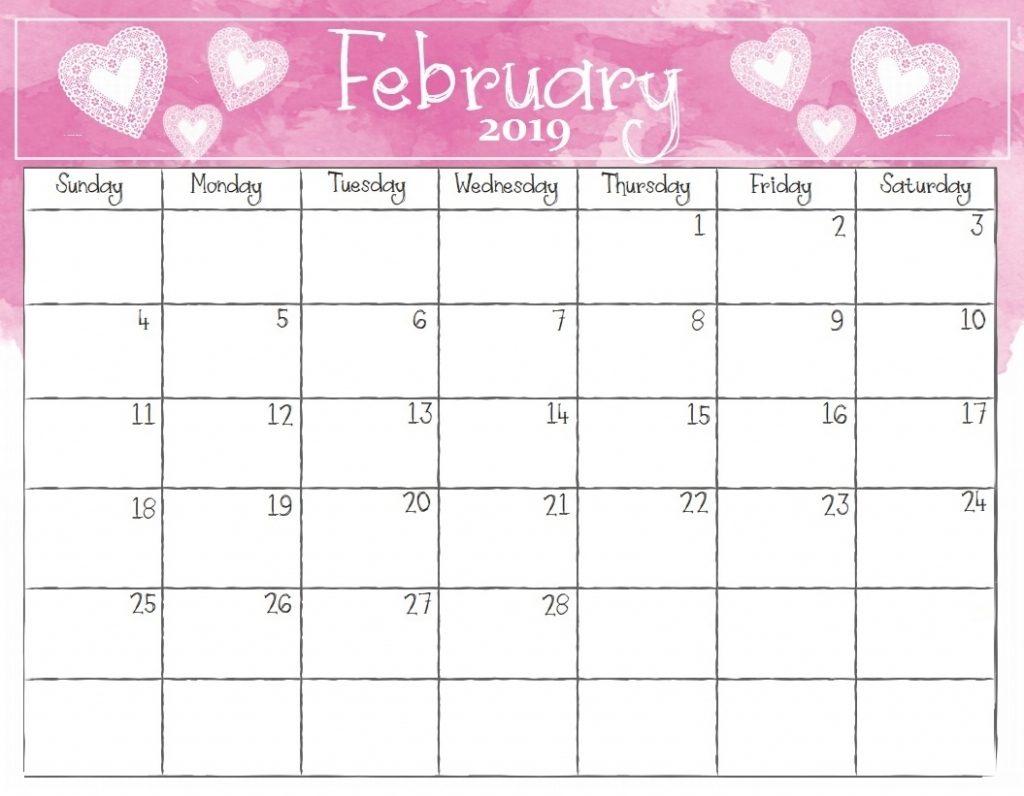 February 2019 Calendar Free Template