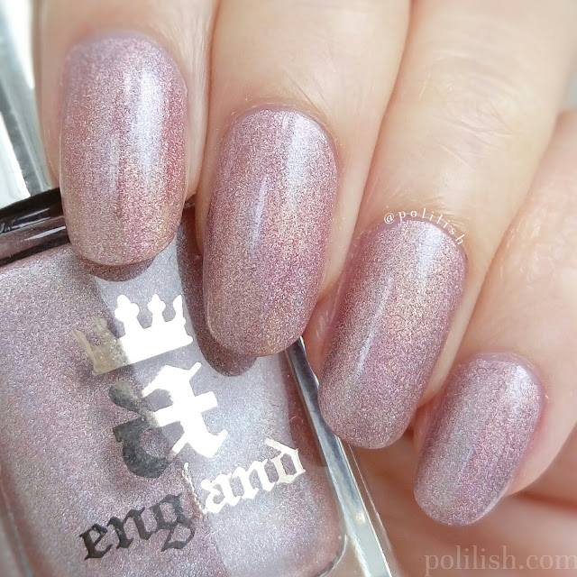 A-England 'Her Rose Adagio' - almost opaque in just one coat!