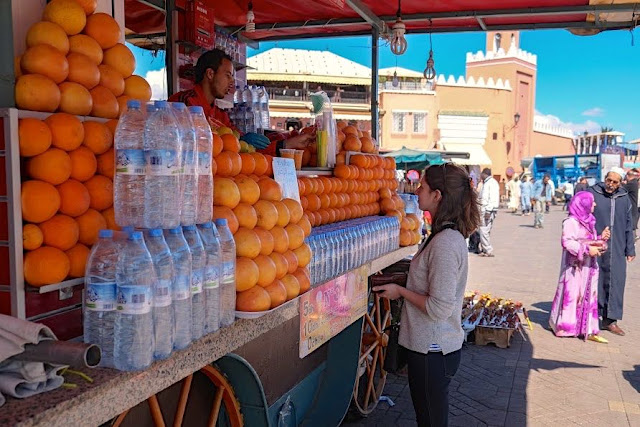 orange juice stall Marrakech Photo Diary