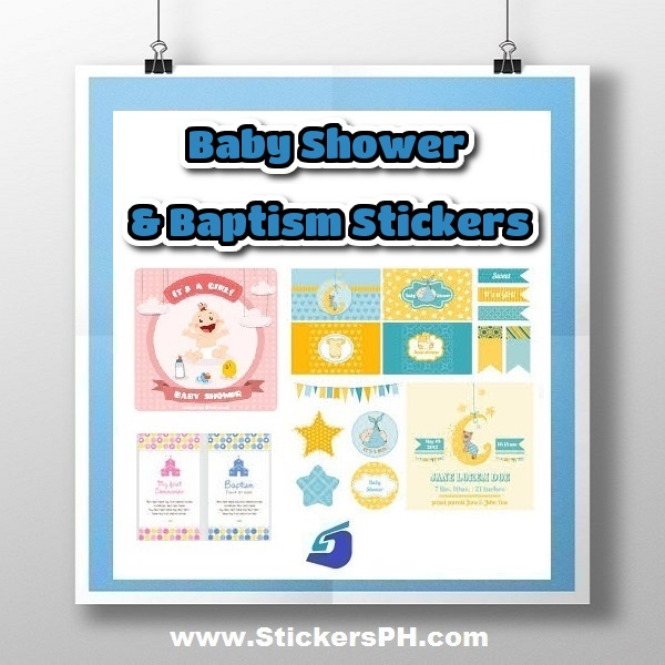 Custom Baby Shower & Baptism Stickers Philippines