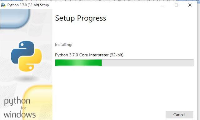 proses menginstal python di windows