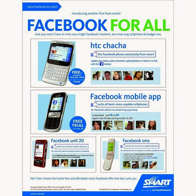 Smart Pioneers serving Free Facebook in the Philippines started as early as 2011